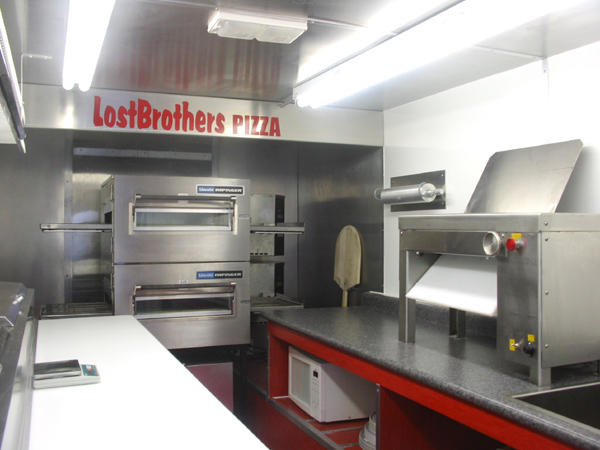 Pizza trucks of canada design for Food truck interior design